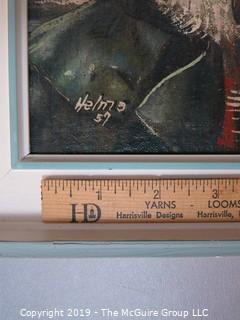 """""""Mariner""""; original oil on board, framed, signed lower right"""