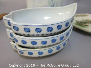 Collection of Ceramics including Japanese Otagiri Marks