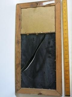 Framed Hall Mirror (broken)