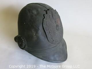 Metal German/European? Military Helmet with Eagle Shield