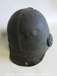 Metal German/European Fireman's Helmet with Eagle Shield