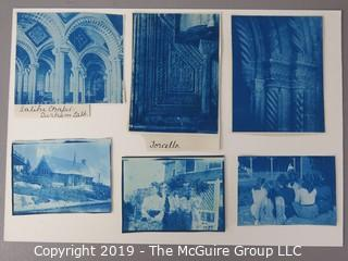 Photos: Historic: Unaccredited: Cyanotypes: Architecture, Cathedrals, Group of women