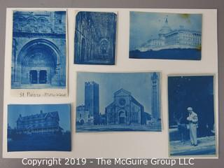 Photos: Historic: Unaccredited: Cyanotypes: Architecture, Cathedrals and Man w/reindeer