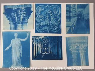 Photos: Historic: Unaccredited: Cyanotypes: Architecture & Cathedrals COLUMNS