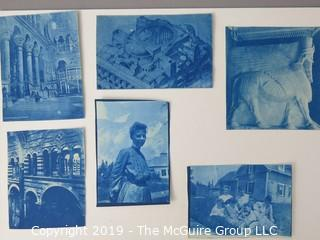 Photos: Historic: Unaccredited: Cyanotypes: Architecture & Family