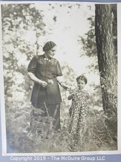 photo: Historic: Americana: 3 photos of females: beauty, young girl, child w/G'ma
