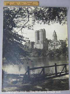 Photo: Rickerby; Historic: Americana: View from lake in Central Park, NYC