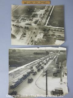 Photo: Historic: Americana: Automotive: 1927 Beach Traffic, Chicago