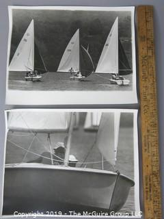 Photo:Large Format B&W: Historical: uncredited: sailing