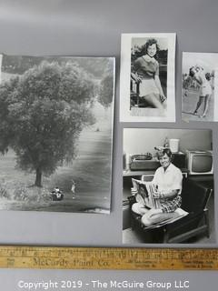 Photo: Rickerby: Historic: Americana: Golfing: & Wire photos; Female golf stars Bauer and Rawls