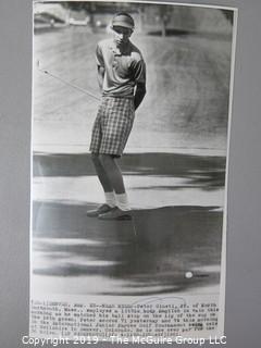 Photo: Historic: Americana: Golfing stars 1960's, St Andrews clubhouse Press photos identified