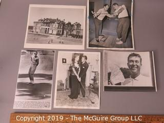 Photo: Historic: Americana: Golfing stars 1960's, St Andrews clubhouse Press photos identified