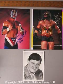 Paper: Prints of pro-wrestlers not original autographs: Photo of Killer Kowalski