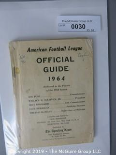 Paper: Historical: Sports: Football: AFL 1964 Official Guide
