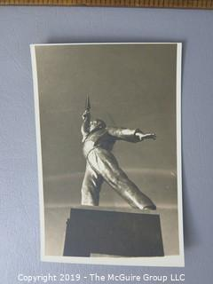 Photo: credited: Historical; Americana: Old Mine Bldg: Dumbo ride: Worlds Fair statues