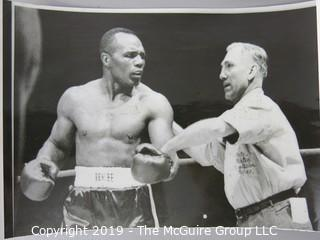 Photo: Sports: Boxing: 1953 AP and ringside photos of Jersey Joe Walcott and Rocky Marciano. Incl. ticket stub from April 10, 1953 bout.