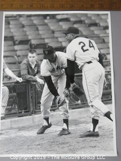 Photo: Rickerby: Historical: Sports: Baseball: Large Format B&W Original Photo of Mays and McCovey, San Francisco Giants; by Arthur Rickerby, iconic U.S. photojournalist