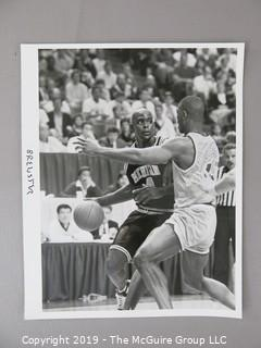 Photos: Sports: Basketball: Freshman Chris Webber of Michigan including iconic Final Four mishap; original photos by Jeff Wheeler