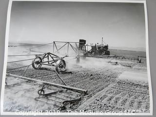"""Photo: Historic: Americana: """"Sod Busting""""; publicity photos of Caterpillar Tractor Co. in Western U.S."""