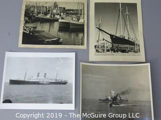 Photos: Unaccredited: Historical: Americana: Nautical theme: Includes US Navy scuttling of cruiser