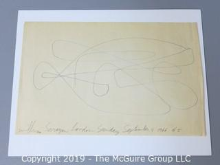 "Art; Paper: William Saroyan (1908-1981): Pencil Signed and Dated; ""London, Sunday September 4, 1966 #5"""