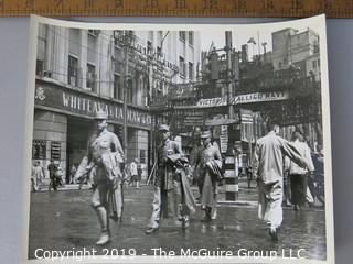 Photo: unaccredited: Historical; Americana: post-WWII China street scene with banner