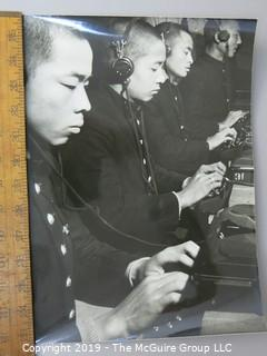 Photo: unaccredited: Historical; WWII: Asian operators at typewriters