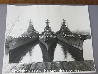 Photo: unaccredited: Historical; Americana: Naval: WWII: USS Iowa (61) and USS Wisconsin(64)