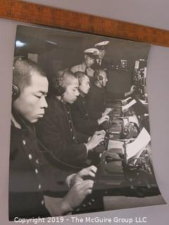Photo: uncredited: Historic: Asian military typists at typewriters