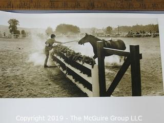 Photo: Rickerby: Historic: Americana: Equestrian: reluctant horse