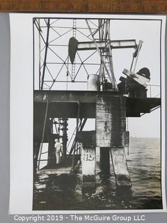Photo: Rickerby: Historic: Life Mag.: South America trip: Oil production station in Lake Maracaibo, Venezuela
