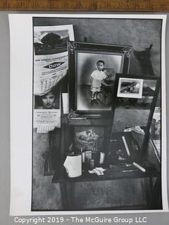 Photo: Rickerby: Historic: ART: study of side table with photos and ephemera