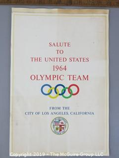 Paper: Historical; Americana: 1964 US Olympic Team pamphlet
