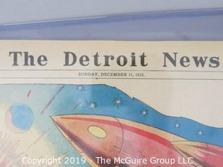 Paper: Historical: 1932 Edition of The Detroit Free Press Newspaper: Science Fiction Early Rockets: {includes large top loader)