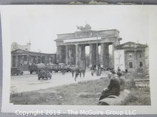 Photo: uncredited: Historical; Americana: various maritime and city views, Brandenburg gate in Berlin during WW-II