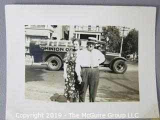 Photos: Historical: unnamed: circa '30's-40's: Shell Oil truck, Firestone sign, non-professional boxing