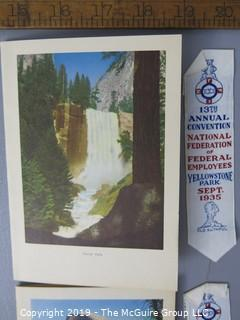 Paper: Historical: Dinner menu National Fed of Gov't Employees 13th Annual Mtg Yellowstone; w/ribbons
