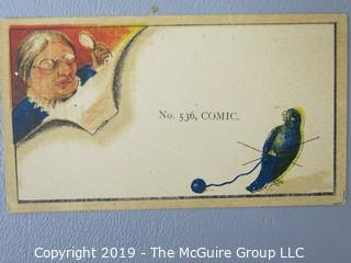 Paper: Vintage: Collectable: various novelty cards