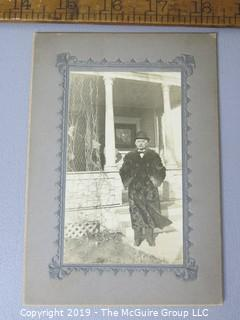 Photo: unaccredited: Historical; Americana: Man in fur skin coat and derby; early 1900's?