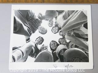 Photo: press credited: Historical; Americana: Kids in a circle from below