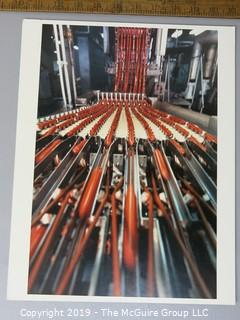 Photo: unaccredited: Historical; Americana: Manufacturing Hot Dogs; color photo on board