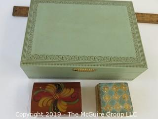 Jewelry: three jewelry boxes
