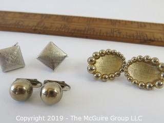 Jewelry: 3 pair of Bartek named earrings