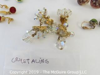 Jewelry: 6 pair crystal style earrings