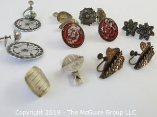 Jewelry: 7 pair of metal based earrings