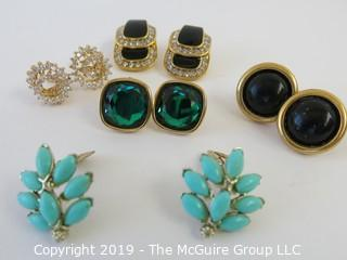 Jewelry: 5 pair of named earrings